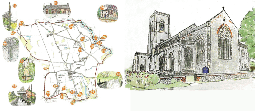 Worstead Map and Church