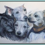 Portrait of Dogs by Thomas Adamski